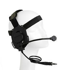 New Z Tactical Headset Headphone Style Military HD-03 Airsoft Mic Radio Adjust