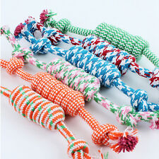 Funny Puppy Dog Pet Toy Cotton Braided Bone Rope Chew Knot New Random Color