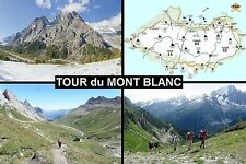 SOUVENIR FRIDGE MAGNET of THE TOUR DU MONT BLANC TREK FRANCE SWITZERLAND ITALY