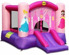 Inflatable Princess Slide Basketball Hoop Bouncer Bouncy Castle Air Blower Kids