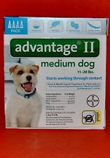 Bayer Advantage II Medium Dog 11-20 lbs  4 Pack  Once A Month Topical Treatment