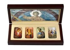 Niue 2012 2$ ANDREI RUBLEV 4 x 1 Oz Silver Coin ICON SET with CONVEX SHAPE