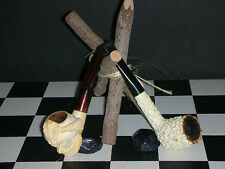 MEERSCHAUM SMOKING PIPE'S IN GOOD USED CONDITION, LOT OF TWO PIPE'S