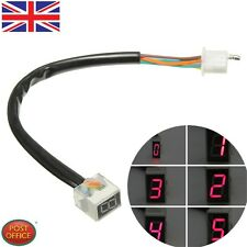 Universal Motorcycle Digital LED Display Gear Indicator Shift Lever Sensor Red