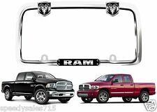 Cruiser Accessories 11135 Chrome/Black RAM License Plate Frame New Free Shipping