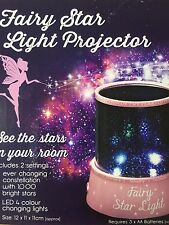 Pink Fairy Star Light Projector/Galaxy/LED Colour Changing/Night Light/Girls
