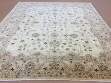 8.3 X 9.8 Beige Green Ziegler Persian Oriental Area Rug All Over Hand Knotted