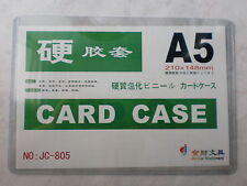 A5 Hard Plastic Card Case, Size : 210 x 148mm