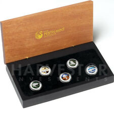 2012 PLATINUM DISCOVER AUSTRALIA COLORIZED PROOF 5-COIN SET - LAST SET MADE