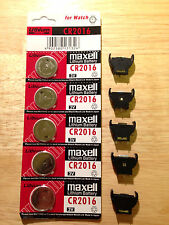 Button Coin Cell Battery Socket Holder Case and Maxell battery CR2016
