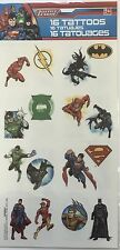 16 DC Comics Justice League Super Hero Tattoos Party Favor Teacher Supply Batman