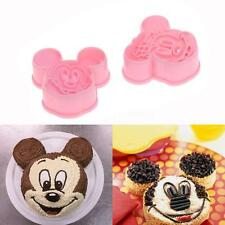 2pcs Mickey Minnie Mouse Fondant Cookie Cutter Cake Decorating Baking Mould tool