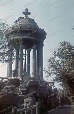 Farb-Dia-Paris-Parc-Buttes-Chaumont-France-agfacolor-Bothner-1940-architektur-5