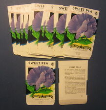Wholesale Lot of 25 Old Vintage - SWEET PEA - Blue - Flower SEED PACKETS