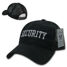 Black Security Officer Guard Agent Low Crown Polo Trucker Baseball Ball Cap Hat