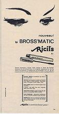 PUBLICITE ADVERTISING 094 1963 RICIL'S nouveau le bross'matic