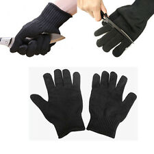 Black 1 Pair Kevlar Cut Resistant Gloves Butcher Anti-cutting Work Garden Gloves