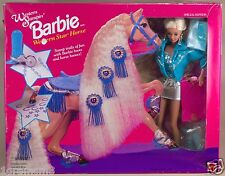 Vintage Western Stampin' Barbie With Star Horse New In Box 1993