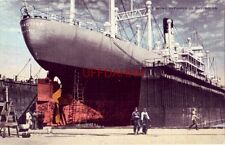 SHIP BEING REPAIRED IN DRY DOCKS, MOBILE, AL.