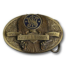 Smith & Wesson Brass Eagle w/Enamel Belt Buckle