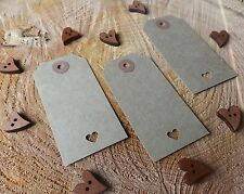 100 Brown Rustic Luggage Tags Unstrung Wedding Wishing Tree Favour  Vintage