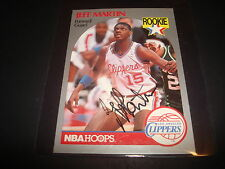 1990 NBA HOOPS #148 JEFF MARTIN CLIPPERS RC Murray SIGNED AUTHENTIC AUTOGRAPH