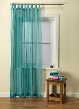 Plain Voile Curtain Panel Tab Top Various Colours