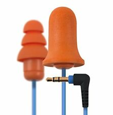 Plugfones Contractor Orange Ear Plug Earbuds Headphones with Hearing Protection