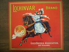 Lochinvar Brand Gold Buckle Assoc East Highlands San Berardino CA Label
