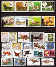 BULGARIE : La faune sauvage et domestique,chevaux,chats,oiseaux H199