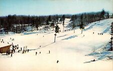 CABLE WISCONSIN MOUNT TELEMARK SKI AREA~BEGINNERS HILL~POSTCARD 1959