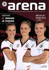Frauen-Länderspiel 25.10.2016 Deutschland - Niederlande, arena 4/2016, Aalen