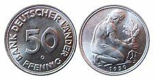 J379  50 Pfennig Bank deutscher Länder  1950 G in STG fein