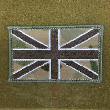 NEW MULTICAM EMBROIDERED BRITISH UNION JACK FLAG PATCH VELCRO® BRAND HOOK,IFF UJ