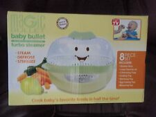BABY BULLET STEAMER 8 PIECE SET SHIP WORLDWIDE CONVERTER REQ OUTSIDE USA