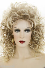 Med.Auburn Root Tipped with Pale Blonde Blonde Long Medium Curly Wigs