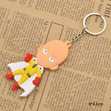 Cosplay Anime One Punch Man Double-si Saitama Rubber Keychain Character Key Ring