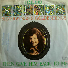 "7"" 1975 RARE VG+ ! BILLIE JO SPEARS : Silver Wings And Golden Rings"