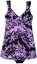 New Anne Cole Women's Long Tankini Bikini 2 Pc Swimsuit XS 2/4 $138 Lilac