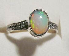 Ethiopian Welo Opal Ring in 925 Sterling Silver sz 7.5