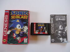 Sonic 3D Blast Complete In Box Sega Genesis (damaged box)