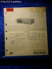 Sony Service Manual TC YX7 Cassette Deck (#2503)