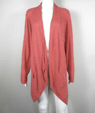 EILEEN FISHER Woman ~ Linen Cotton Angular Open Front, Long Cardigan ~ Size 1X
