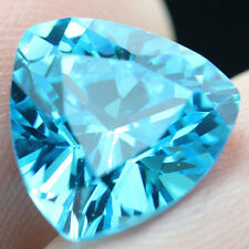 6.45ct Unheated Light Blue SAPPHIRE 10MM Trillion Cut AAA COLOR LOOSE GEMSTONE