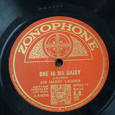 78rpm HARRY LAUDER she is ma daisy / rising early in the morning