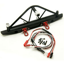 RC Alloy Aluminum Rear Bumper Spare Tire Rack LED For Axial SCX10 1/10 Crawler