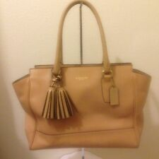 COACH 24201 Legacy Medium Candace Carryall Shoulder Tan Bag Leather