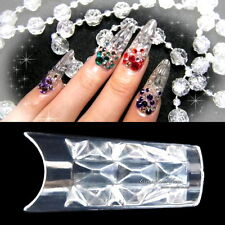 100 Pcs MOSAIC NAIL ART ACRYLIC UV GEL FRENCH FALSE TIPS Fiberglass Salon Tool