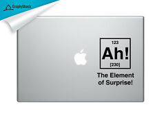 AH Element of Surprise Mac Decal Laptop Sticker Mac Stickers for 13 15 17 inch