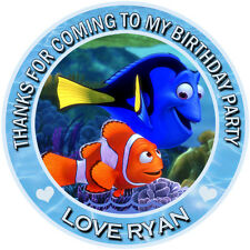 Personalized Finding Nemo Round  50mm Stickers Party Thank You Seals